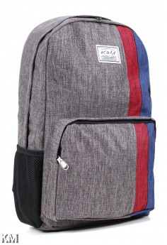 K&M Korean Backpack Curve Style With Line [M23392]