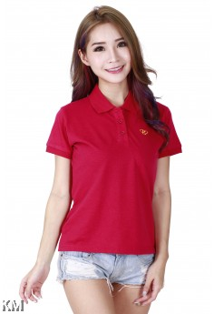 Lady Polo Tops Red [M10556]