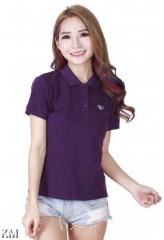 Lady Polo Tops Purple [M10556]