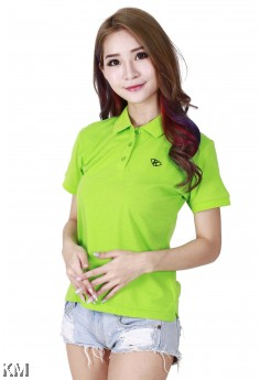 Lady Polo Tops Green [M10556]