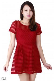 KM Lace Detail Shift Dress [M114