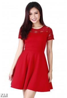 K&M Lady Dress With Lace [M125]
