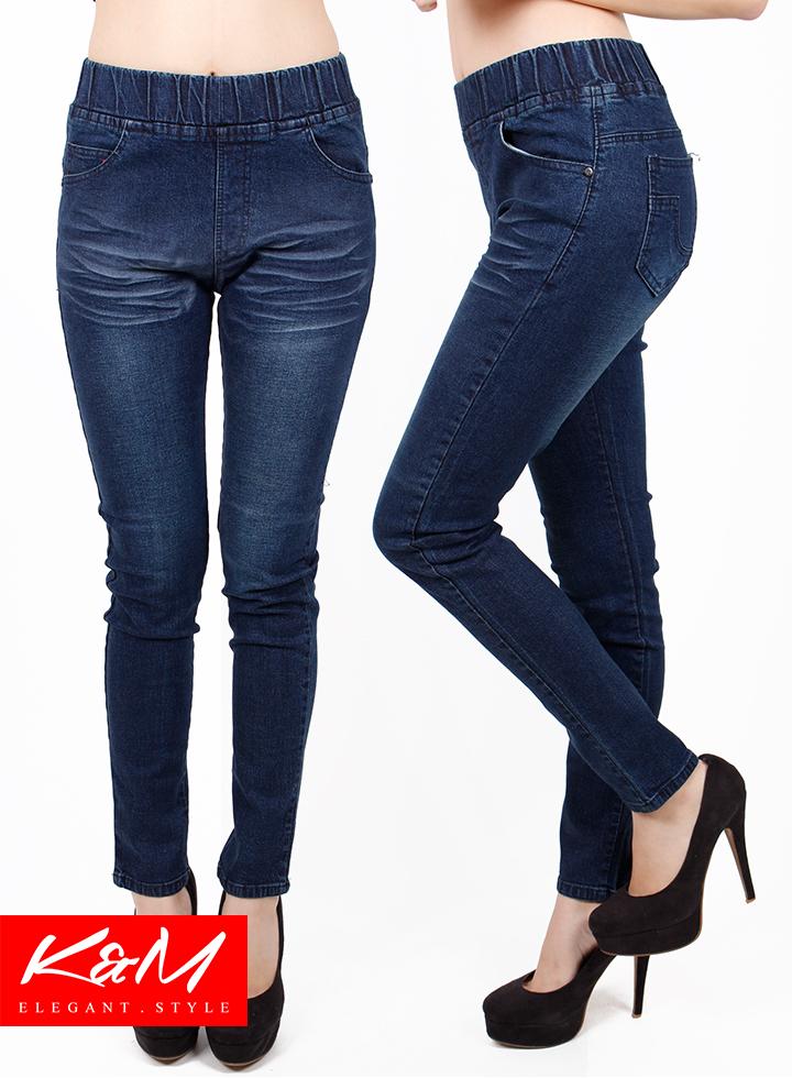 Slim Fit Denim Lady Rubber Waist Jeans M23227 11street