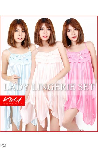 K&M Strappy Slinky Sleepwear Lingerie (M22149)