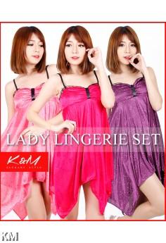 K&M Strappy Slinky Sleepwear Lingerie (M22151)