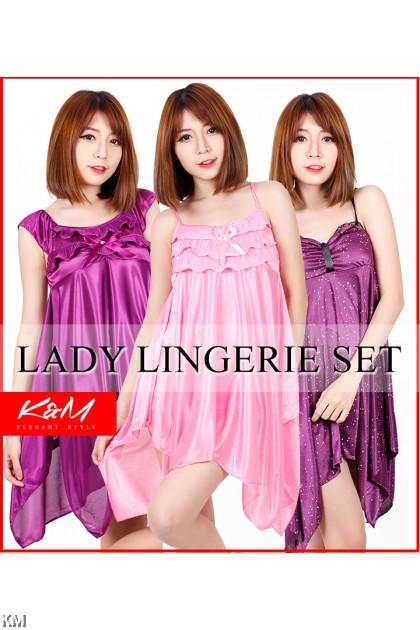 KM 3 Design Strappy Slinky Sleepwear Lingerie [M22151-49-33]