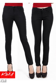 Black Frankie Slim Fit Pants [M23501]