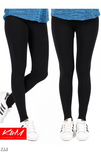 Black Elegant Elastic Legging [M32341]