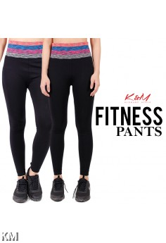 KM Long Black Fitness Pants [M27401]
