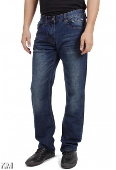 Men Straight Long Blue Jeans [M13351]
