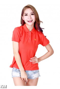 Lady Polo Shirt Orange [M10556]