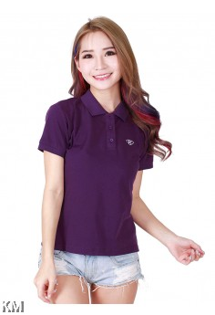 Lady Polo Tops Purple [M10556]