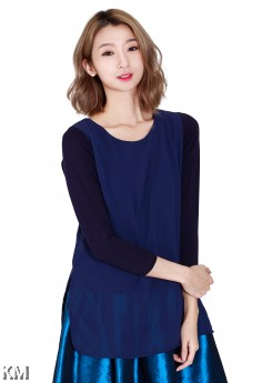 Long Sleeved Blouse With Side Slits [M421]