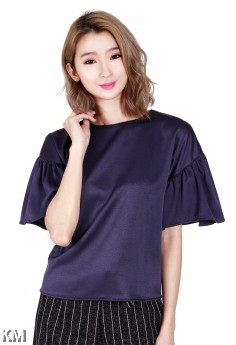 Ruffle Sleeve Top [M455]