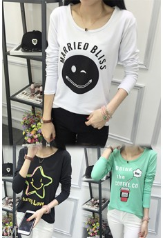 2 for RM30 Female Printed Graphic Tee (5 Designs) M10548-A