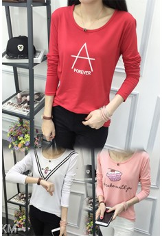 2 For RM30 Female Printed Graphic Tee (4 Designs) M10548-B