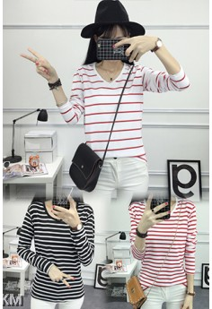 2 For RM30 Female Striped Tee (3 Designs) M10549-B