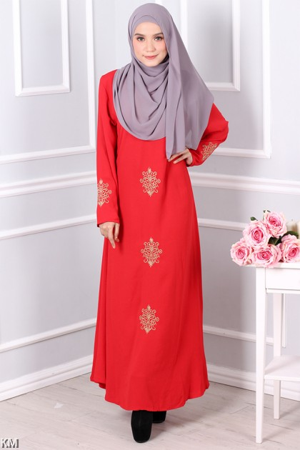 Jubah with Golden Embroidery [M20166]