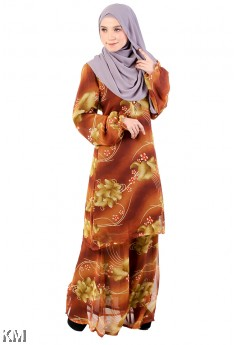 Floral Cuff Baju Kurung [M29322]