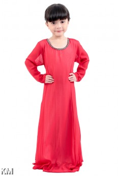 Kids Chiffon Silk Maxi Dress [M870]