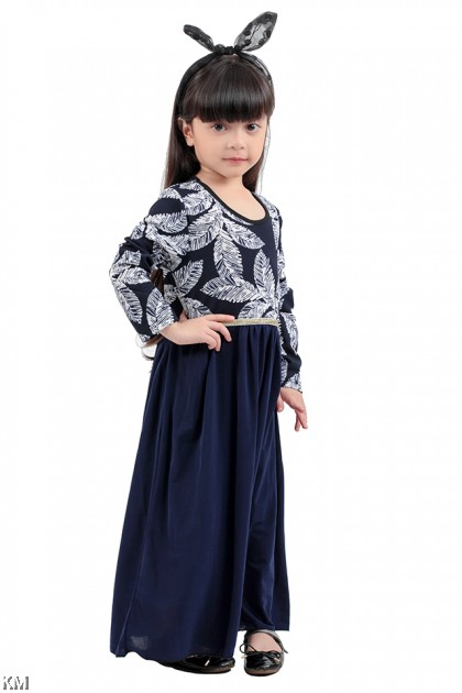 Kids Printed Maxi Dress [M11519/M11520]