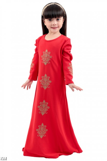 Kids Jubah with Golden Embroidery [M20157/M20161]