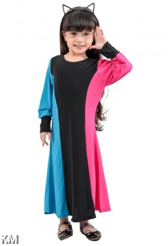 Kids Tri-colors Maxi Dress [M25390/M25439]