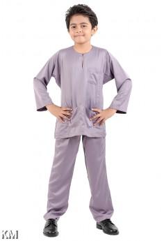 Kids Round Neck Button Baju Melayu [M16440]