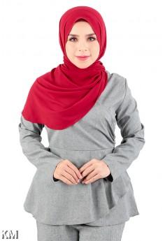 Wrap Peplum Muslimah Blouse [M20221]