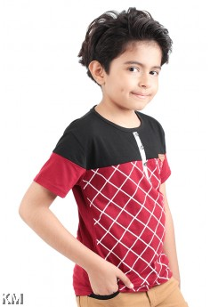 Kids Dual Tone Short Sleeve Tee [M11545]