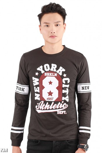 Brooklyn Athletic Long Sleeve Graphic Tee [M1025]