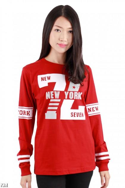 New York Seven Long Sleeve Graphic Tee [M1028]
