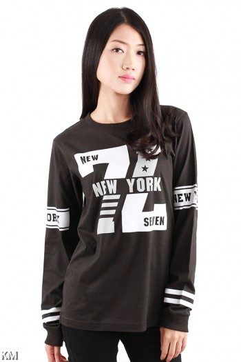 New York Seven Long Sleeve Graphic Tee [M1028]