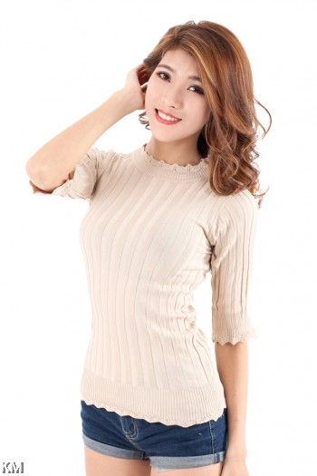Hi-Neck Modern Top [M6297]
