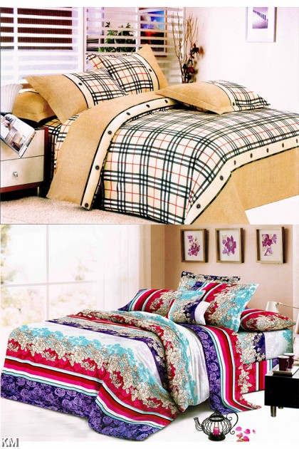 [M21371-B] Single Size Modern Bedsheet with corner straps