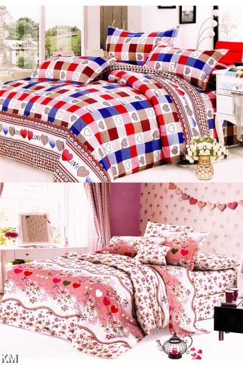 [M21371-B] Single Size Modern Bedsheet with corner straps