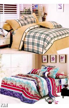 [M21371-B] Queen Size Modern Bedsheet with corner straps