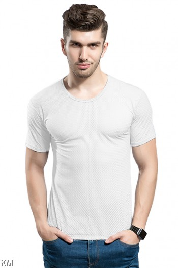 [M21425] Men Ice Silk Breathable Cooling T Shirt