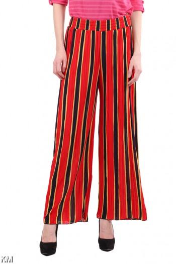 [M109] Women Stripe Loose Palazzo