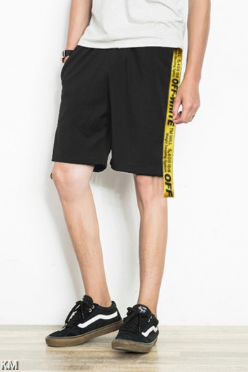 [M823] Men Street Style Pants With Side Tape