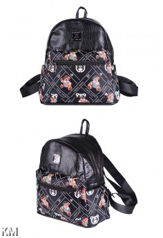 Premium Leather Casual Backpack [M21411]