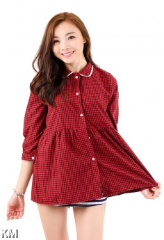 Women Checkered Shirt [M2935]