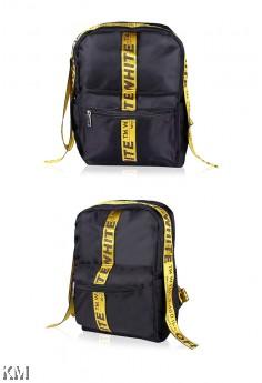 Korean Style Tape Zipper Com part Backpack [M22524]