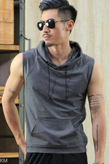 Men Sleeveless Basketball Hoodie [M21431]