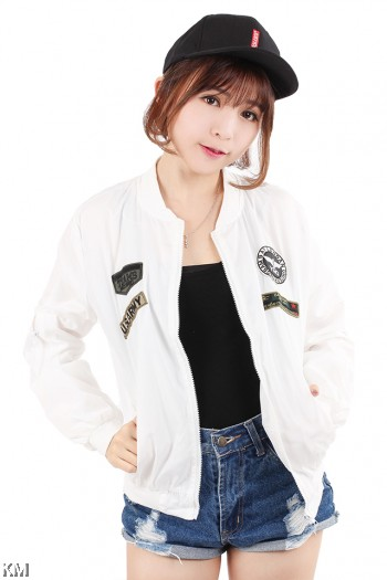 Eagle Badge Bomber Jacket [M21046]