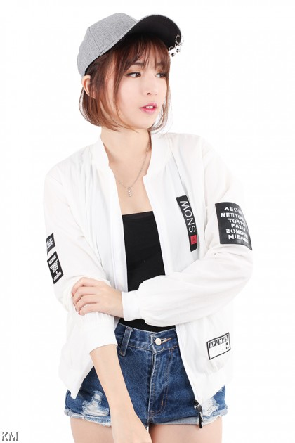 Snow Solid Bomber Jacket [M21054]