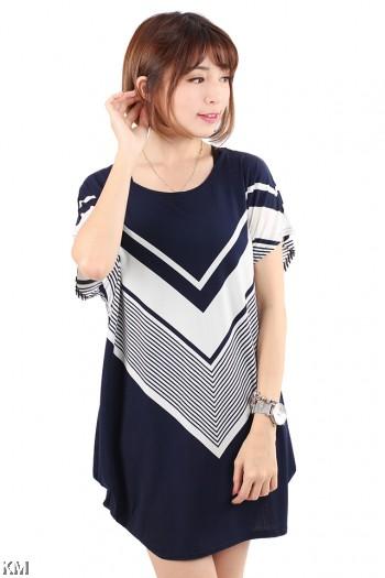 V Lines Plus Size T Shirt [M20352]