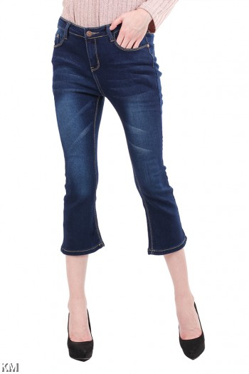 Calf Length Girlfriend Jeans [M21878]