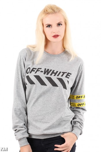 OFF WHITE Long Sleeve T Shirt [M6182]