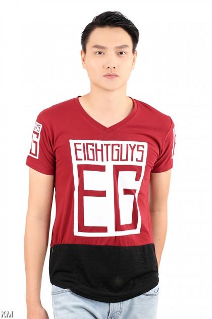 EG Men V-neck T Shirt [M21531]